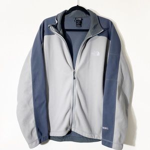 The north Face Men's Gray Windwall Full Zip Jacket